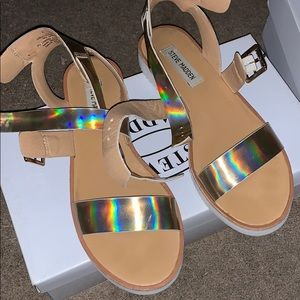 Steve Madden metallic sandals